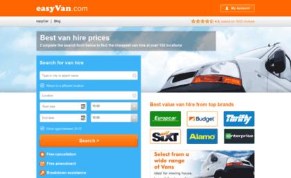 Easyvan Com Website Cheap Van Hire Van Rental Uk Ireland