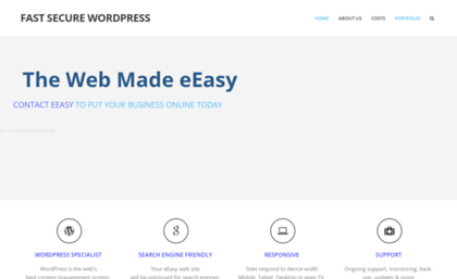 eeasy com au website fast secure wordpress secure and fast
