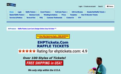ehptickets com website raffle tickets low cost design online