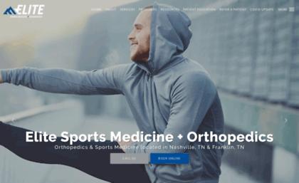 Eliteorthopaedic com website  Elite Sports Medicine +