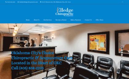elledgechiropractic com website chiropractor okc elledge