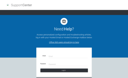 Emailhelp.rackspace.com website. Apps Setup Assistant.