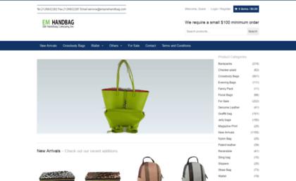 72899f9e3c6a Empirehandbag.com website. Empire Handbag Company Inc Online Store ...
