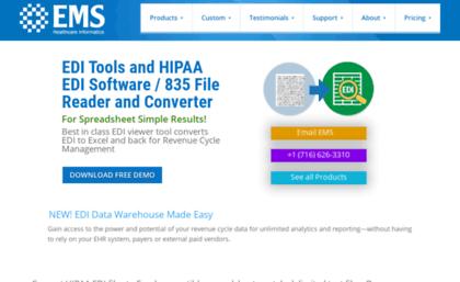 Emscorp biz website  EDI Reader Converter 835 Revenue Cycle Software