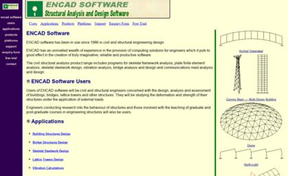 Encad Ie Website Engineering Software Civil Structural Analysis Buildings Bridges Frames Masts