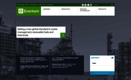 Enerkem com website  Enerkem: From waste to Cellulosic