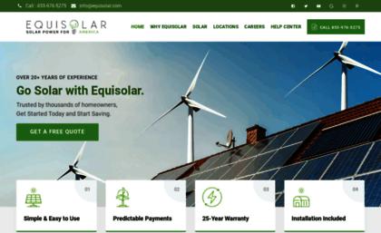 Equisolar com website  Equisolar Solar Company | Solar Installation