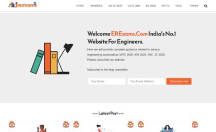 Erexams com website  Engineering Exams