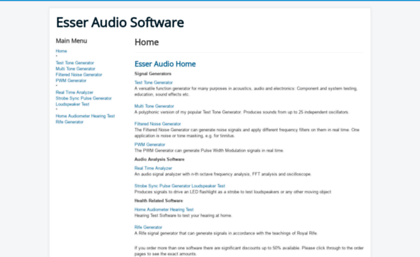 Esseraudio com website  Home - Timo Esser's Audio Software