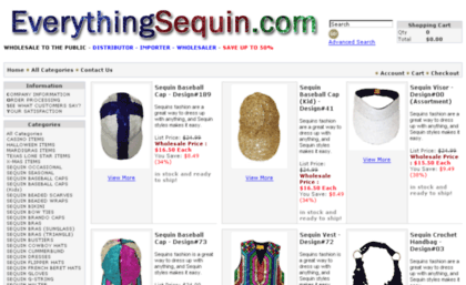 Everythingsequin.com website. Everything Sequin direct import and ... 2816c39c74522