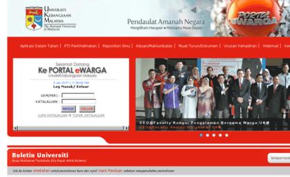 Ewarga Ukm My Website Portal Ewarga Universiti Kebangsaan Malaysia