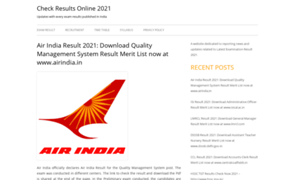 Examinationresults ind in website  Check Results Online 2018