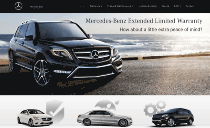 Website for Mercedes benz extended limited warranty price