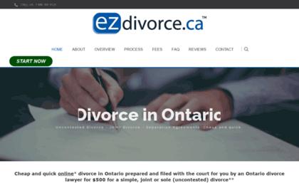 Cheap divorce ontario
