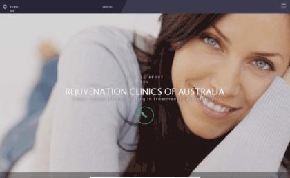 Facialrejuvenation com au website  Rejuvenation Clinics of