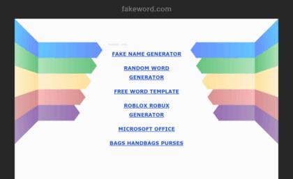 Fakeword com website