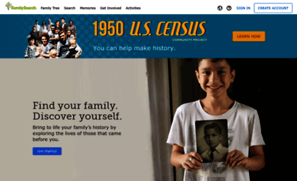 Familysearch com website  Free Family History and Genealogy