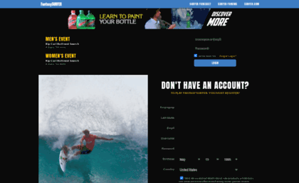 Fantasysurfer Com Website Fantasy Surfer By Surfer Magazine