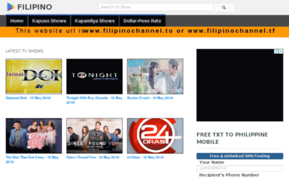 Filipinochannel tf website  Filipino Channel