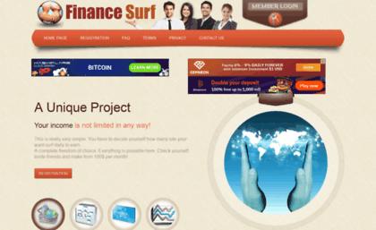 Financesurf net website  FinanceSurf - earn money online