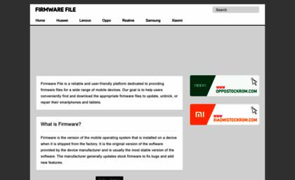 Firmwarefile com website  Firmware File - Database of Stock