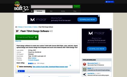 flashtshirtdesignsoftwaresoft32com website download
