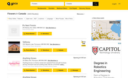 Flowershop ca website  Flowers in Canada | YellowPages ca™