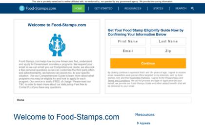Food Stamps Website Program