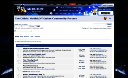 Forum gokickoff com website  The Official GoKickOff Online