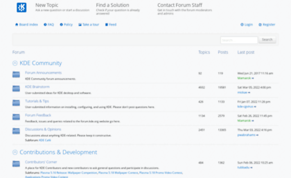 Forum kde org website  Index page • KDE Community Forums