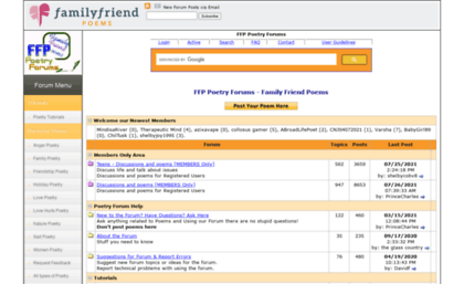 2005ed42401 Forums.familyfriendpoems.com website. FFP Poetry Forum - Family ...