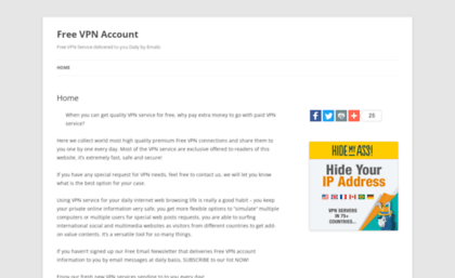 Freevpnaccount net website  Free VPN Account | Free VPN Service