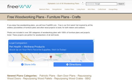 Freeww Com Website Free Woodworking Plans Furniture Plans At