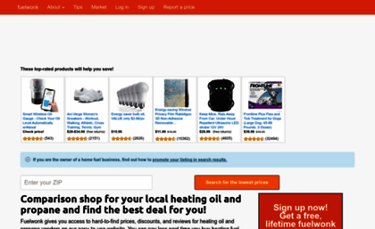 Fuelwonk com website  Find cheapest heating fuel oil and propane