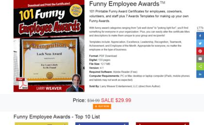 funny employee award certificates