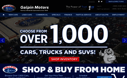 Galpin com website  Galpin Motors: New & Used Car