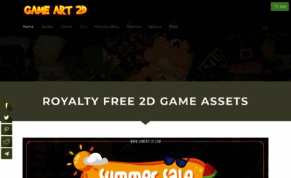 Gameart2d com website  Game Art 2D - Royalty Free 2D Game