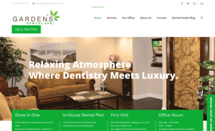 Gardensdentalspa Com Website Palm Beach Gardens Dentist