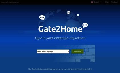 Gate2home com website  Virtual Keyboard Online - Type in