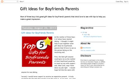 Giftideasforboyfriendsparentsblogspotsg Website Gift