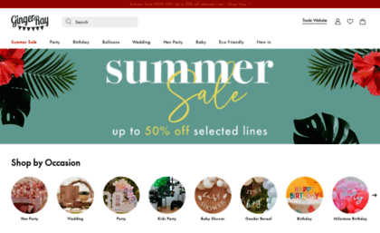 Gingerray Co Uk Website Party Supplies For Kids Parties