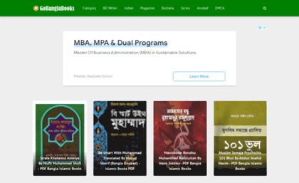 Gobanglabooks com website  Free Download Bangla Books