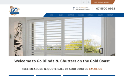 Goblinds Com Au Website Blinds Shutters Awnings And Curtains Gold