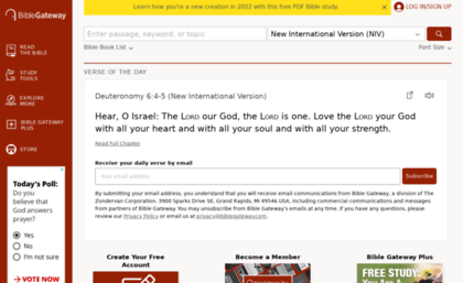 Gospelcom net website  BibleGateway com: A searchable online