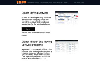 Granot com website  MOVING COMPANY SOFTWARE | MOVING LEADS