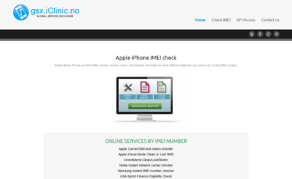 Gsx iclinic no website  Apple iPhone IMEI check