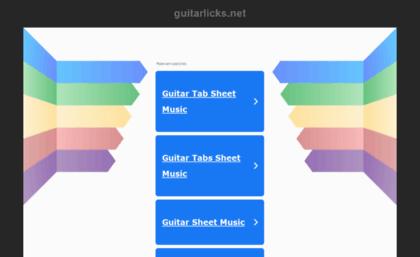 Guitarlicksnet Website Free Guitar Tabs Chords And Sheet