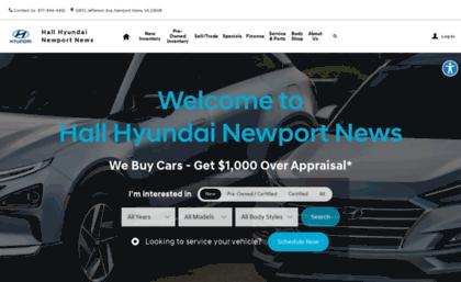 Hyundai Dealership Near Me >> Hallhyundai Com Website New Used Hyundai Vehicles