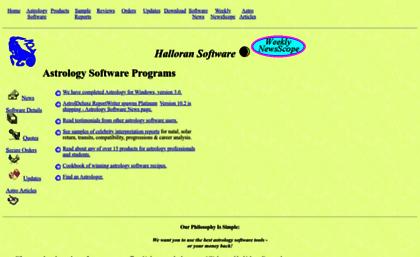 Halloran com website  Astrology Software, Programs, and Books