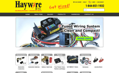 Haywireinc.com website. Haywire & Co., llc Custom Automotive ... on